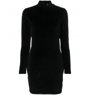 T ALEXANDER WANG VELOUR SOLID DRESS