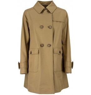 HERNO SHORT COTTON TRENCH