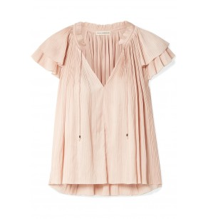 ULLA JOHNSON PLEATED SADE TOP