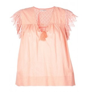 ULLA JOHNSON EMBROIDERED ELARA TOP