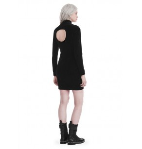 T ALEXANDER WANG VELOUR BACK CUTOUT DRESS