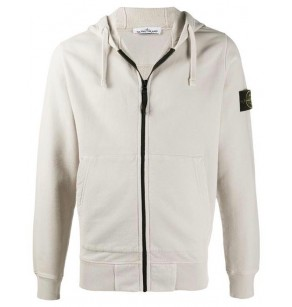 STONE ISLAND HOODED CARDIGAN